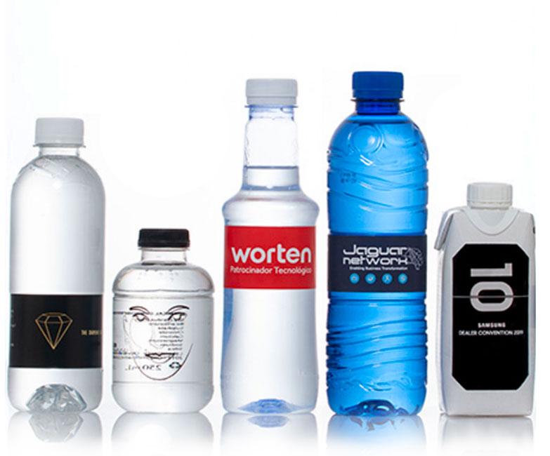 botellitas de agua de plástico personalizadas