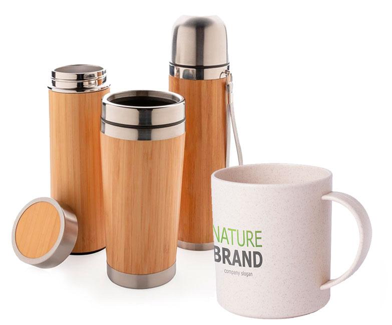 tazas y botellas personalizadas ecológicas