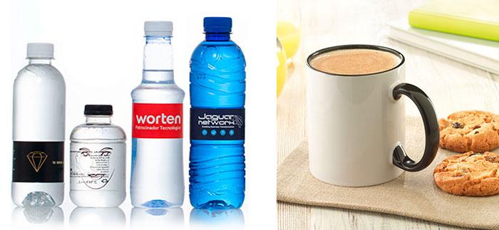 regalos publicitarios tazas y botellas